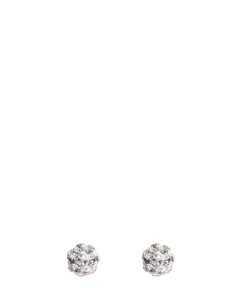'Chesa' Sterling Silver & Cubic Zirconia Stud Earrings