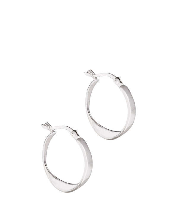'Oyintsa' Sterling Silver twisted Hoop Earrings image 1