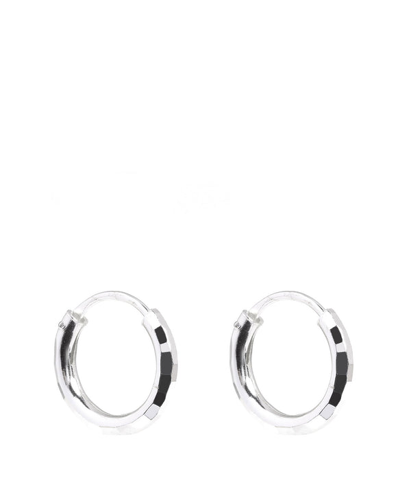 'Luyu' Sterling Silver Hoop Earrings image 1