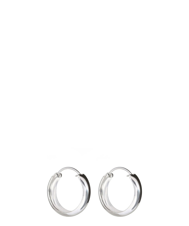 'Ebisu' Sterling Silver Hoop Earrings