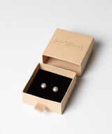 'Odelia' 8-8.5mm Grey Cultured Mabe Pearl Button Earrings image 3