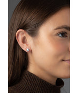 'Odelia' 8-8.5mm Grey Cultured Mabe Pearl Button Earrings image 2