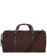 'Dempsey' 16oz Heavy-Duty Brown Canvas & Leather Holdall image 1