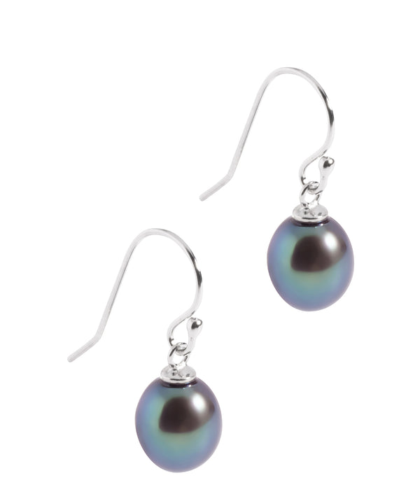 'Jean' Peacock Pearl & Sterling Silver Drop Earrings  image 1
