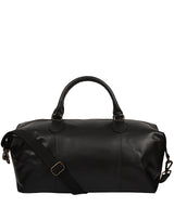 'Excursion' Black Leather Holdall image 1
