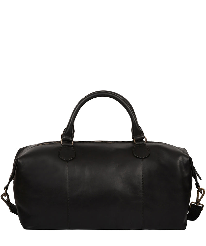'Excursion' Black Leather Holdall image 4