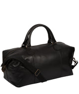 'Excursion' Black Leather Holdall image 6