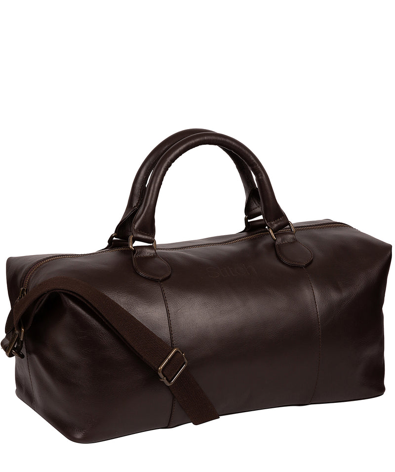 'Excursion' Cocoa Leather Holdall