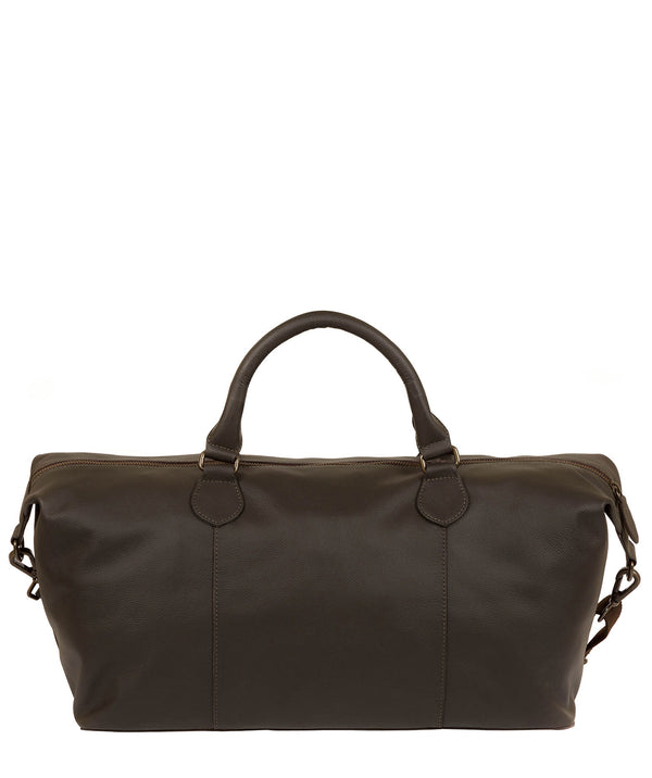 'Excursion' Dark Brown Leather Holdall image 3