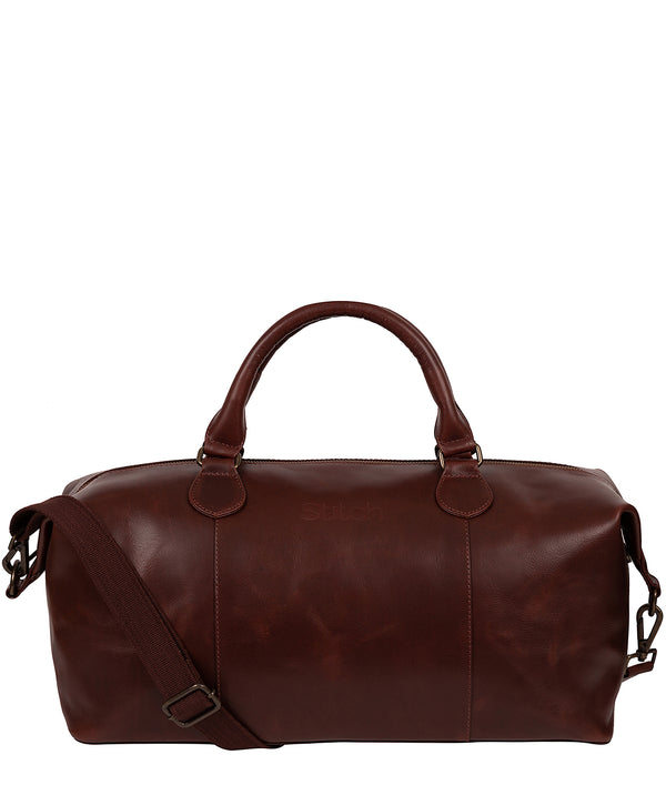 'Excursion' Dark Chestnut Leather Holdall