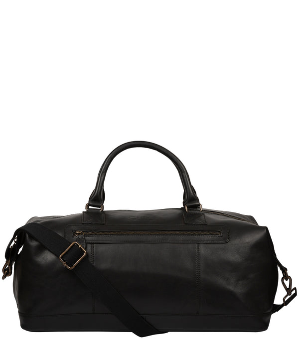 'Shuttle' Black Leather Holdall