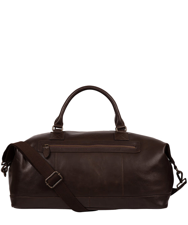 'Shuttle' Cocoa Leather Holdall image 1