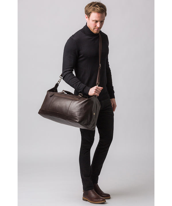 'Shuttle' Cocoa Leather Holdall