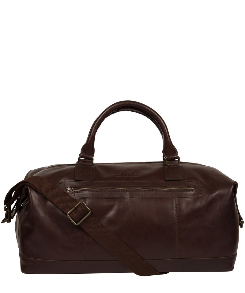 'Shuttle' Espresso Leather Holdall image 1