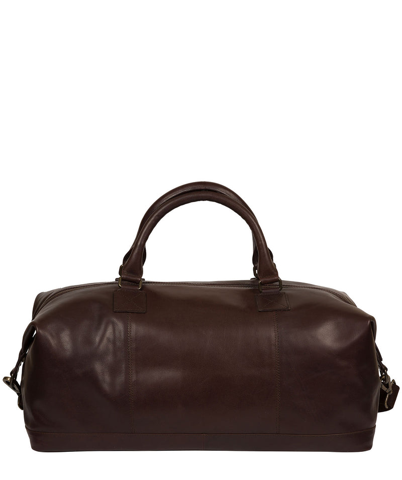 'Shuttle' Espresso Leather Holdall image 3
