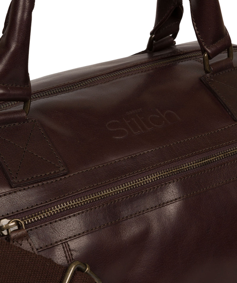 'Shuttle' Espresso Leather Holdall image 6