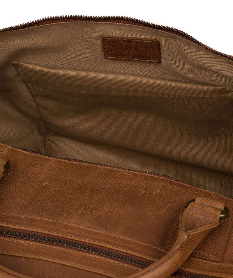'Shuttle' Hazelnut Leather Holdall