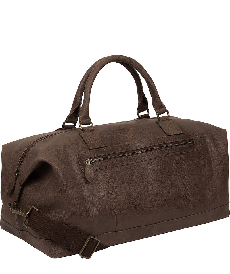 'Shuttle' Hickory Leather Holdall