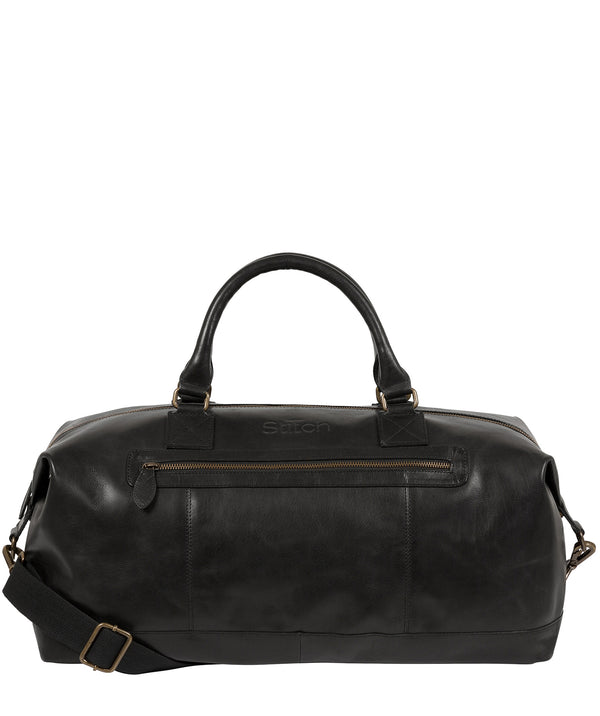 'Shuttle' Jet Black Leather Holdall image 1