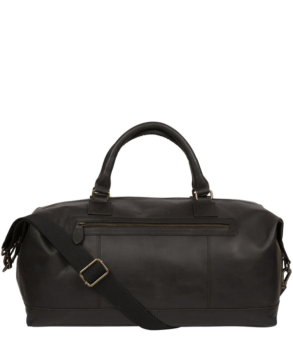 'Shuttle' Matte Black Leather Holdall image 1