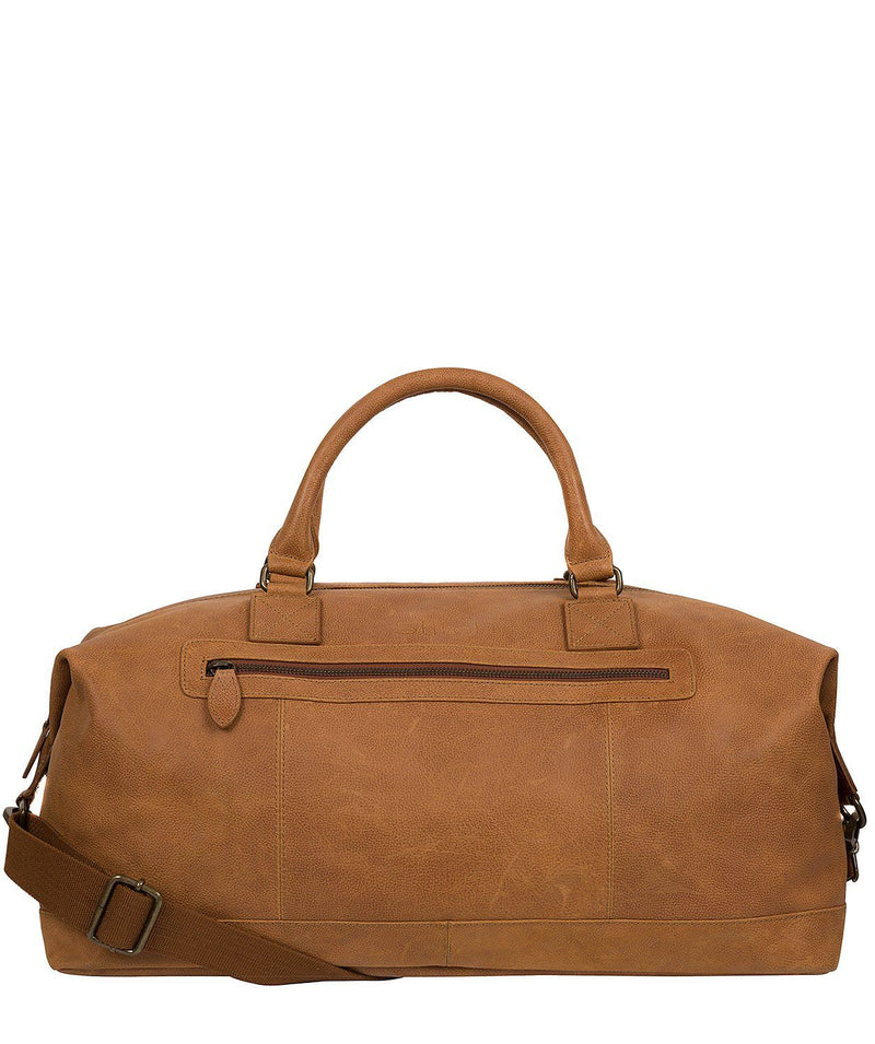 'Shuttle' Pecan Leather Holdall Pure Luxuries London