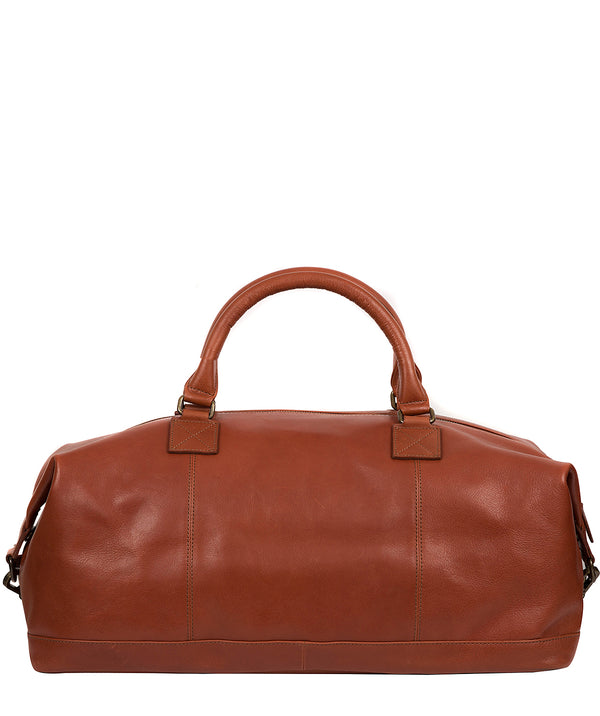 'Shuttle' Treacle Leather Holdall Pure Luxuries London