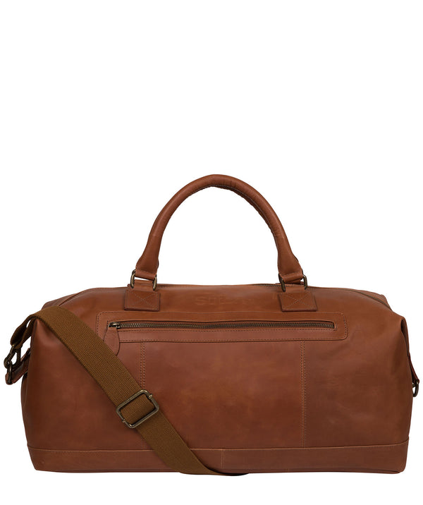 'Shuttle' Whiskey Leather Holdall image 1