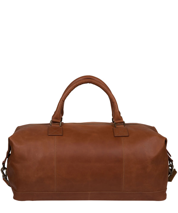 'Shuttle' Whiskey Leather Holdall image 3