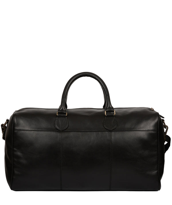 'Aviator' Black Leather Holdall