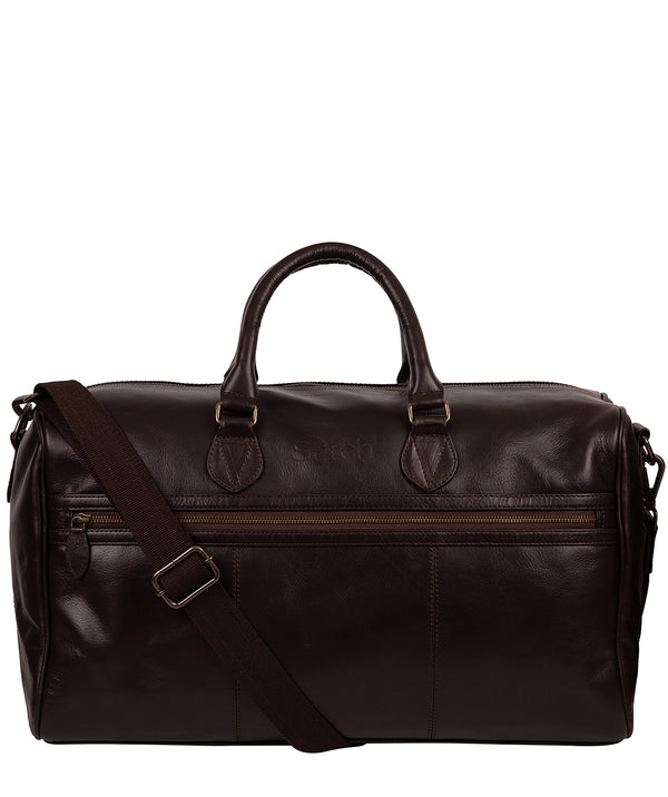 'Aviator' Cocoa Leather Holdall image 1