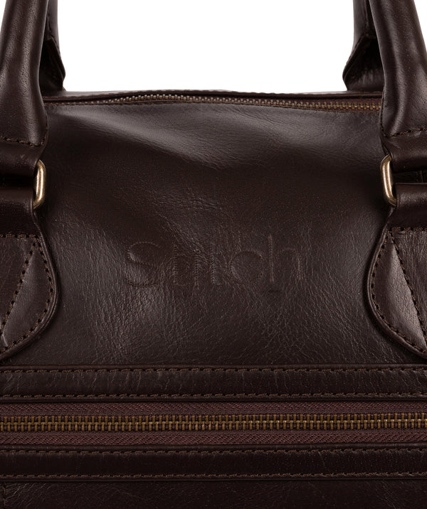 'Aviator' Cocoa Leather Holdall image 3