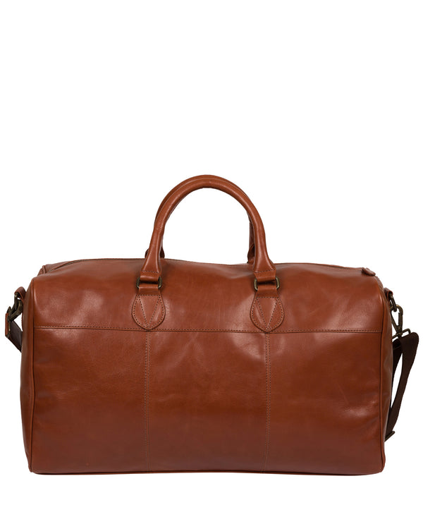 'Aviator' Conker Brown Leather Holdall image 3