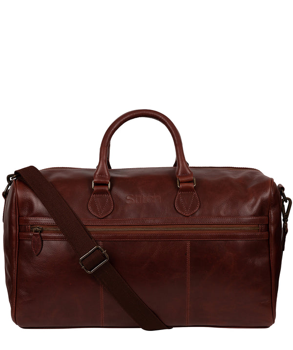 'Aviator' Dark Chestnut Leather Holdall