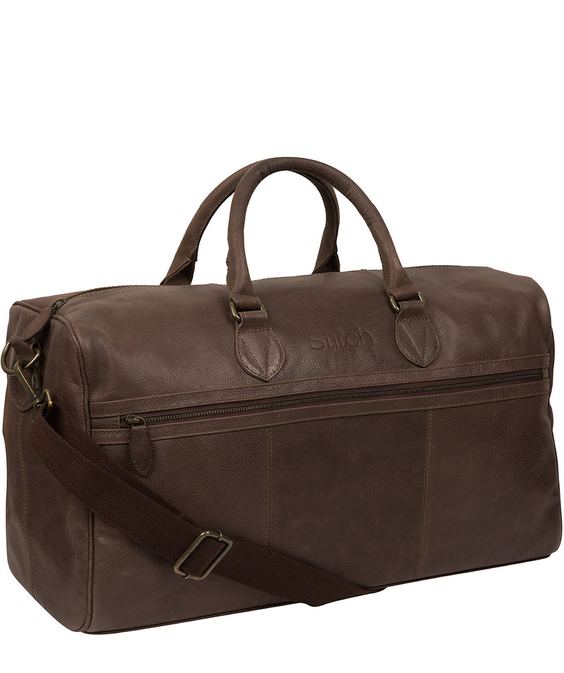 'Aviator' Hickory Leather Holdall