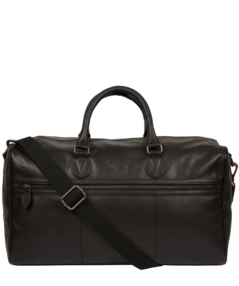 'Aviator' Jet Black Leather Holdall image 1