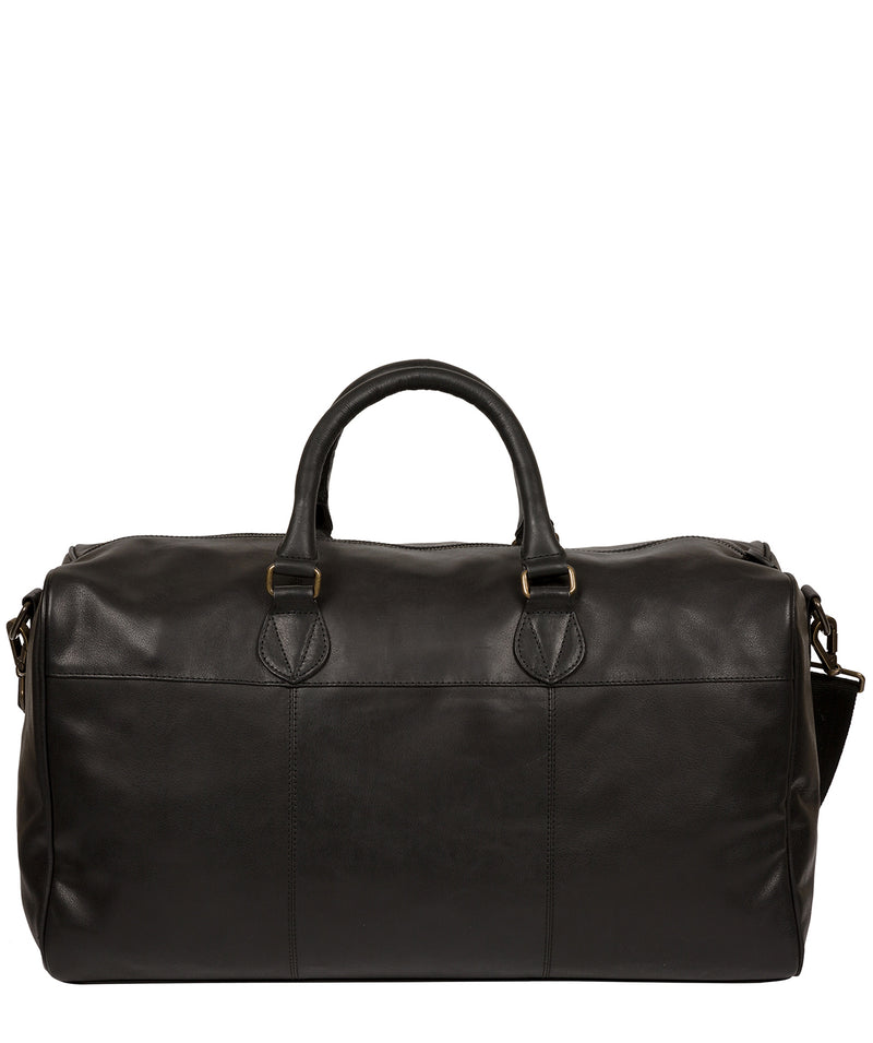 'Aviator' Jet Black Leather Holdall image 3