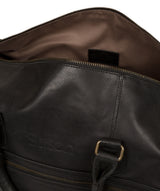 'Aviator' Jet Black Leather Holdall image 4