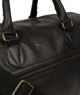 'Aviator' Jet Black Leather Holdall image 6