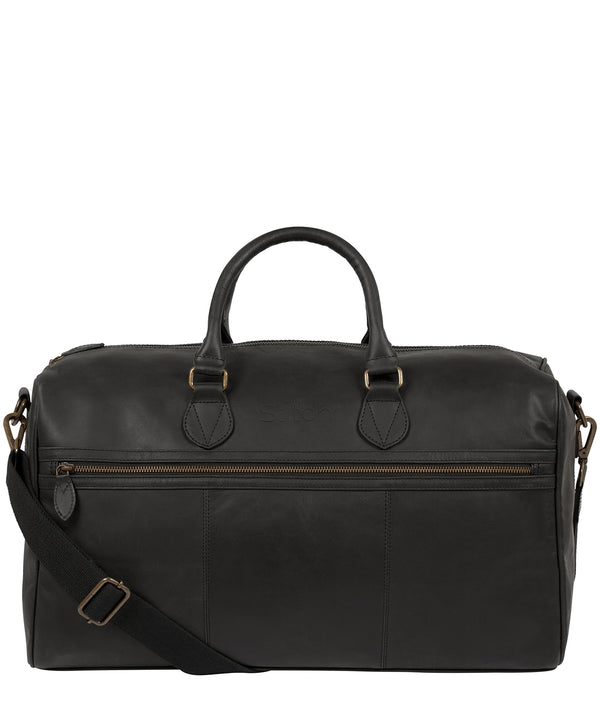 'Aviator' Matte Black Leather Holdall image 1