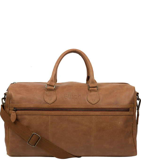 'Aviator' Pecan Leather Holdall