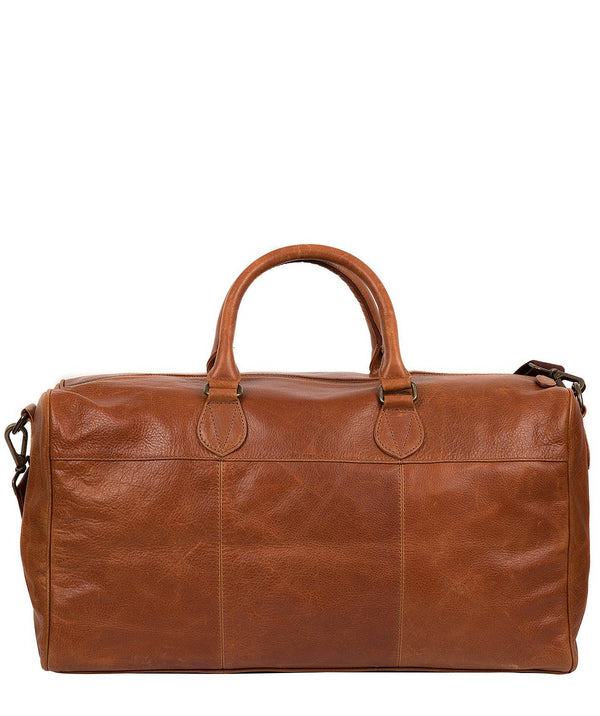 'Aviator' Treacle Leather Holdall Pure Luxuries London