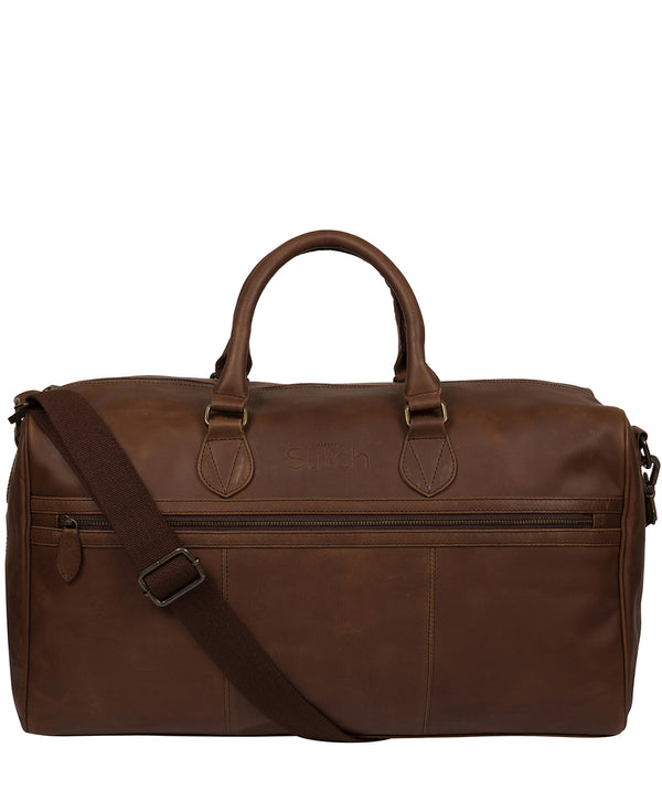 'Aviator' Walnut Leather Holdall image 1