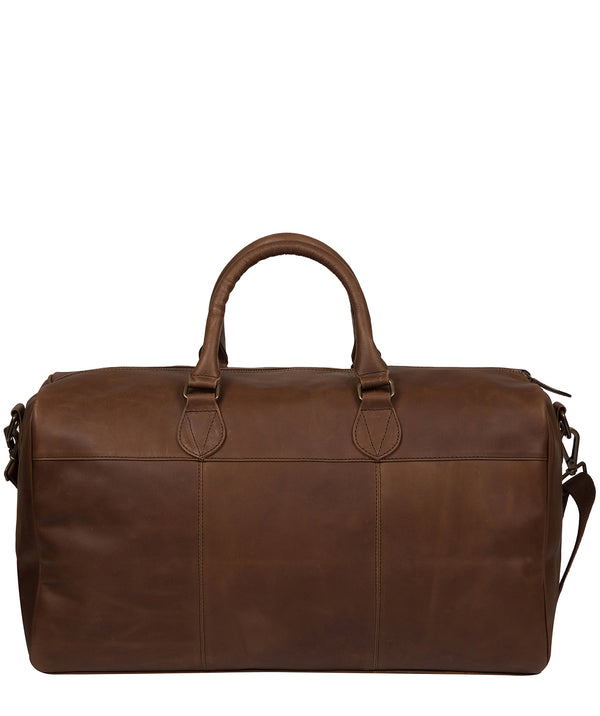 'Aviator' Walnut Leather Holdall image 3