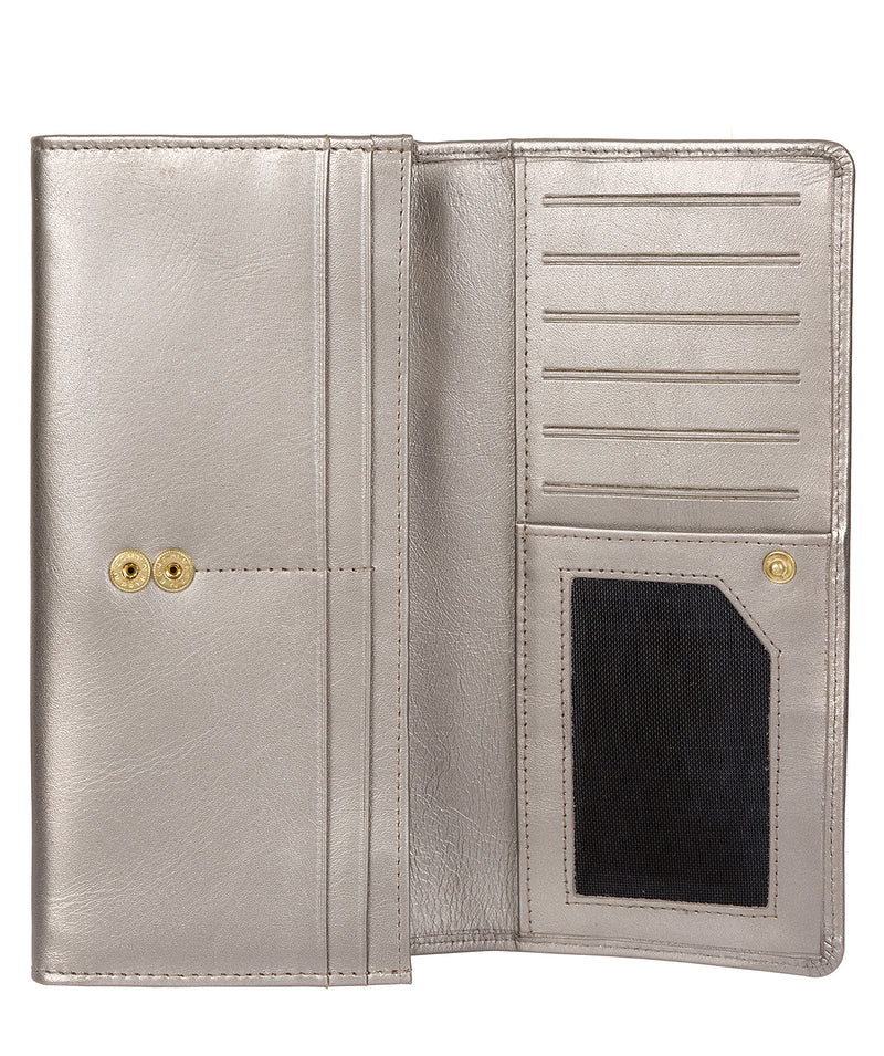 'Fey' Adagio Metallic Silver Leather Purse