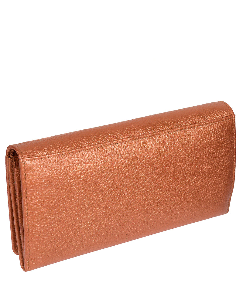 'Fey' Metallic Orange Leather Purse