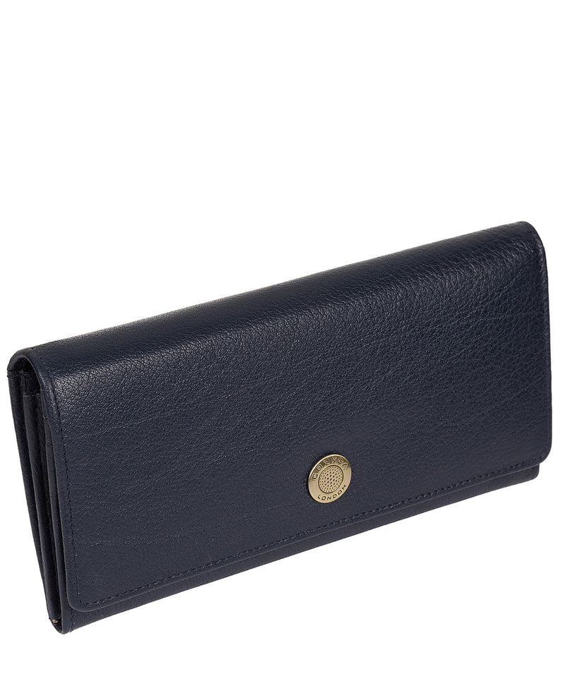 'Fey' Navy Leather Purse