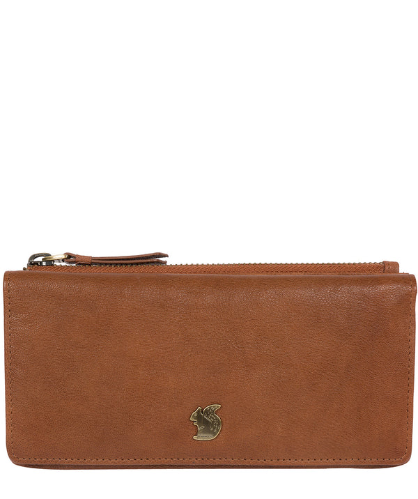 'Dotty' Tan Leather Purse image 1