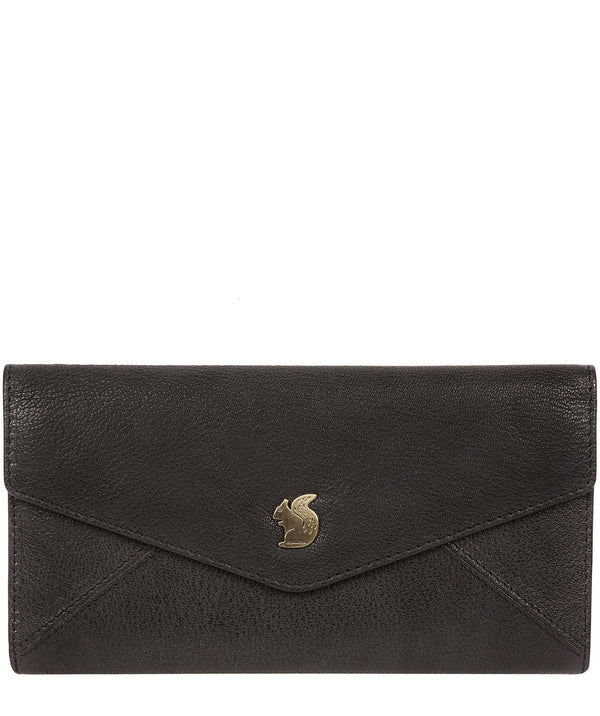 'Fion' Black Leather Tri-Fold Purse image 1