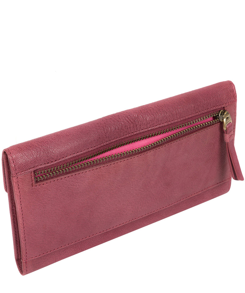 'Fion' Orchid Leather Tri-Fold Purse image 3