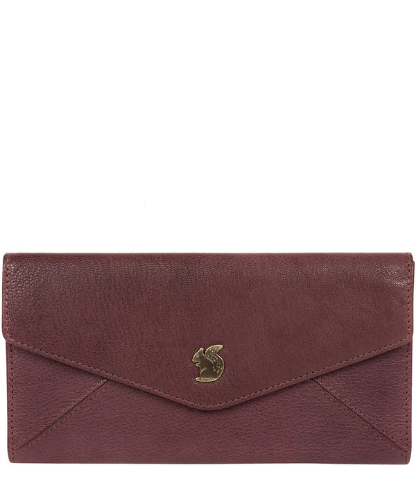 'Fion' Plum Leather Tri-Fold Purse image 1